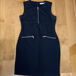 Calvin Klein navy sheath dress fully lined